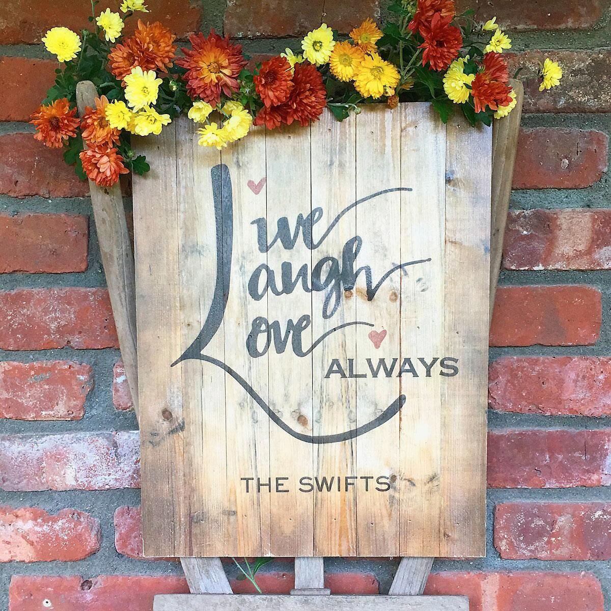 Live, Laugh, Love Plaque by Designer Jillian Yee-Pham