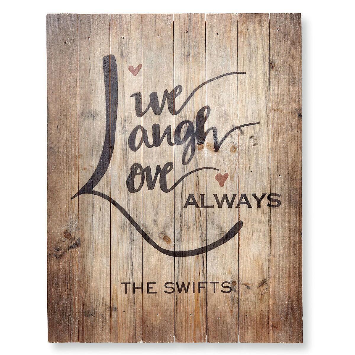 Live, Laugh, Love Plaque
