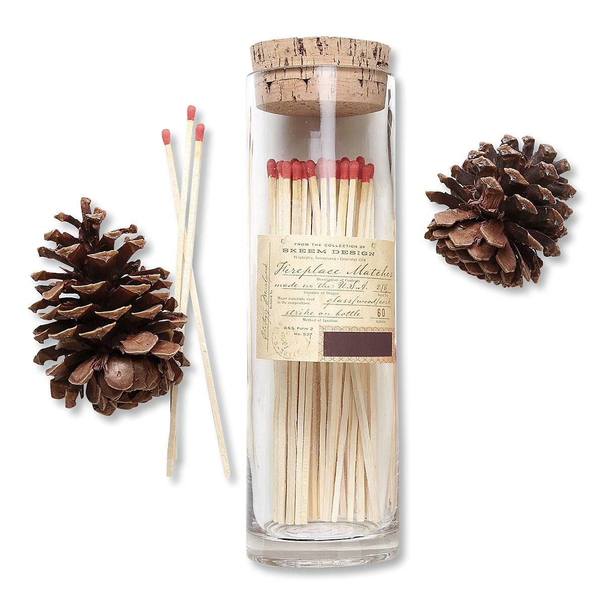 Fireplace Match Bottle by Skeem Design