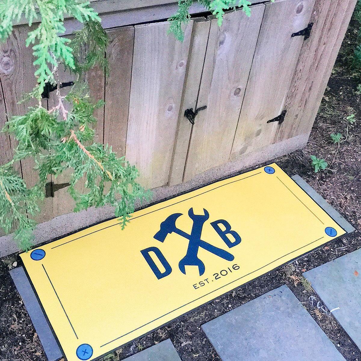 Tools Personalized Double-Width Doormat