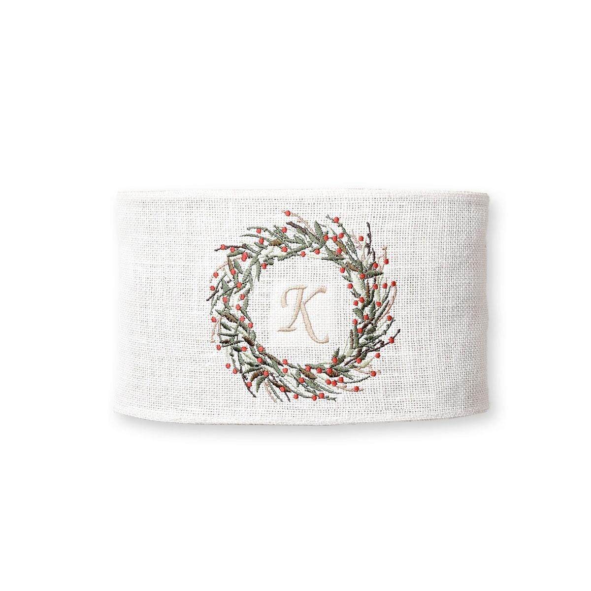 Bayberry Wreath Pillow Wrap by Mud Pie