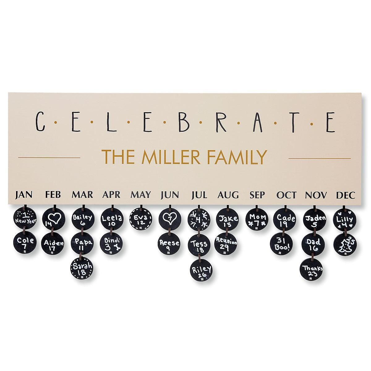Celebrate Dates Plaque