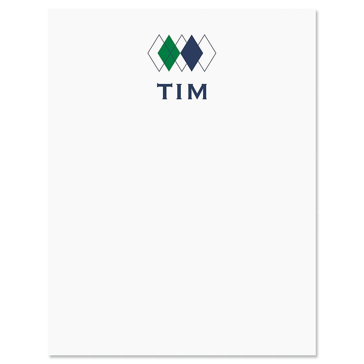 Top Diamond Personalized Note Cards