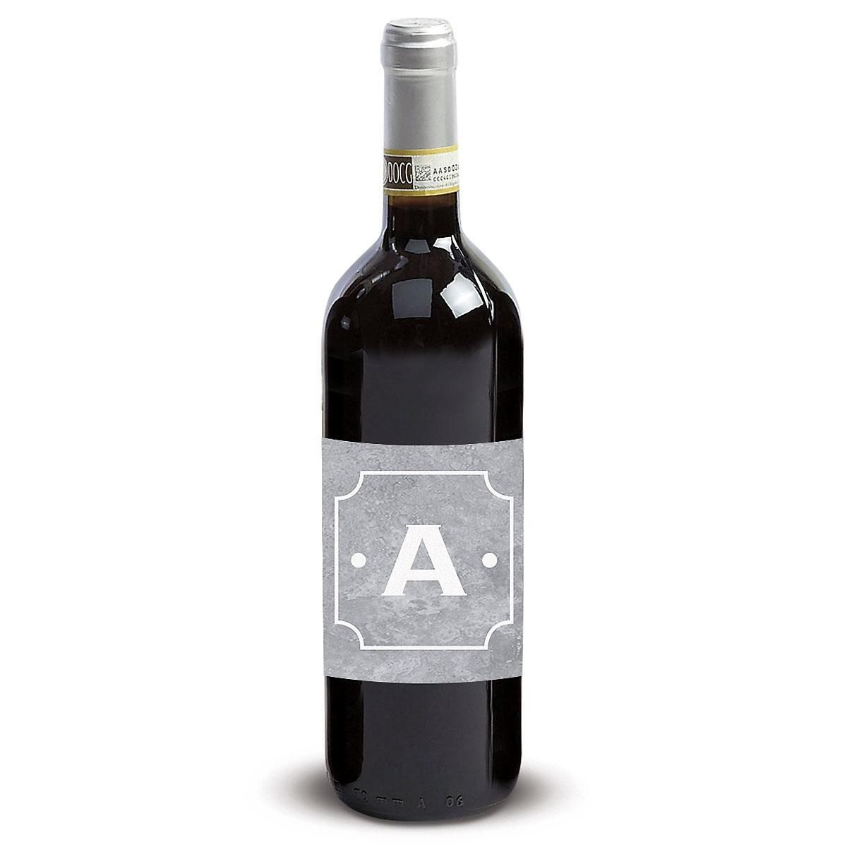 Initial with Dots Wine Label