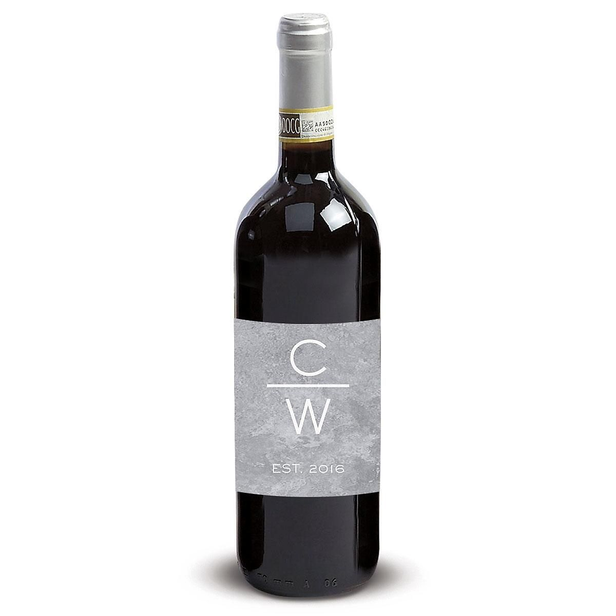 Initials with Line Wine Label