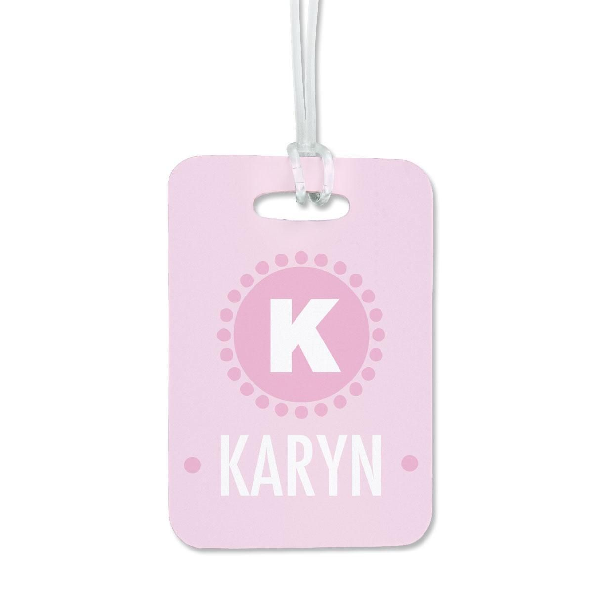 Circle Dots Luggage Tag