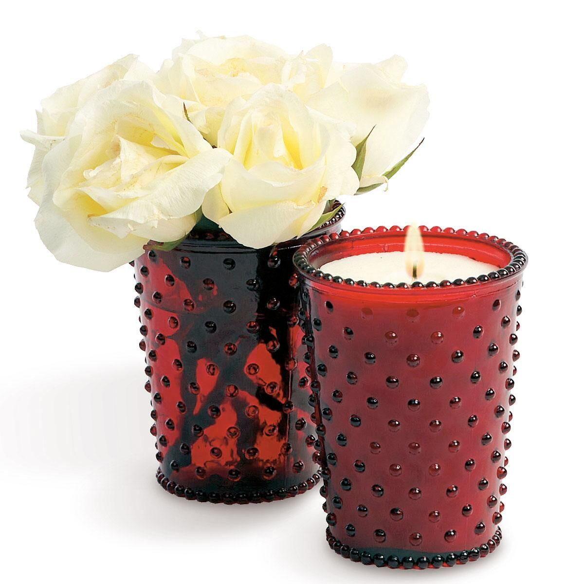 Hobnail Glass Candle by Simpatico