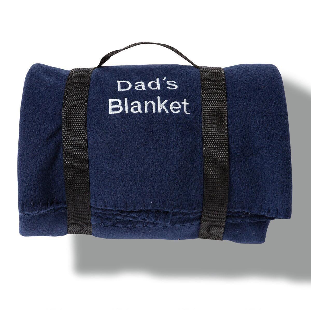 Navy Personalized Fleece Blanket
