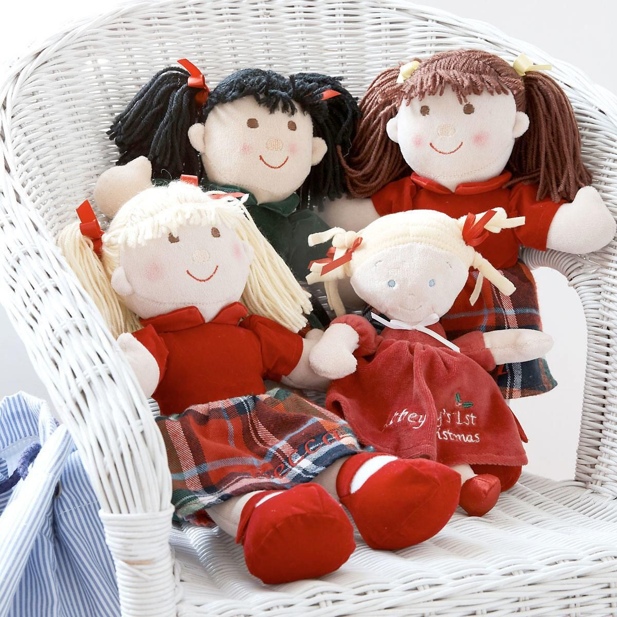 Black Haired Christmas Doll