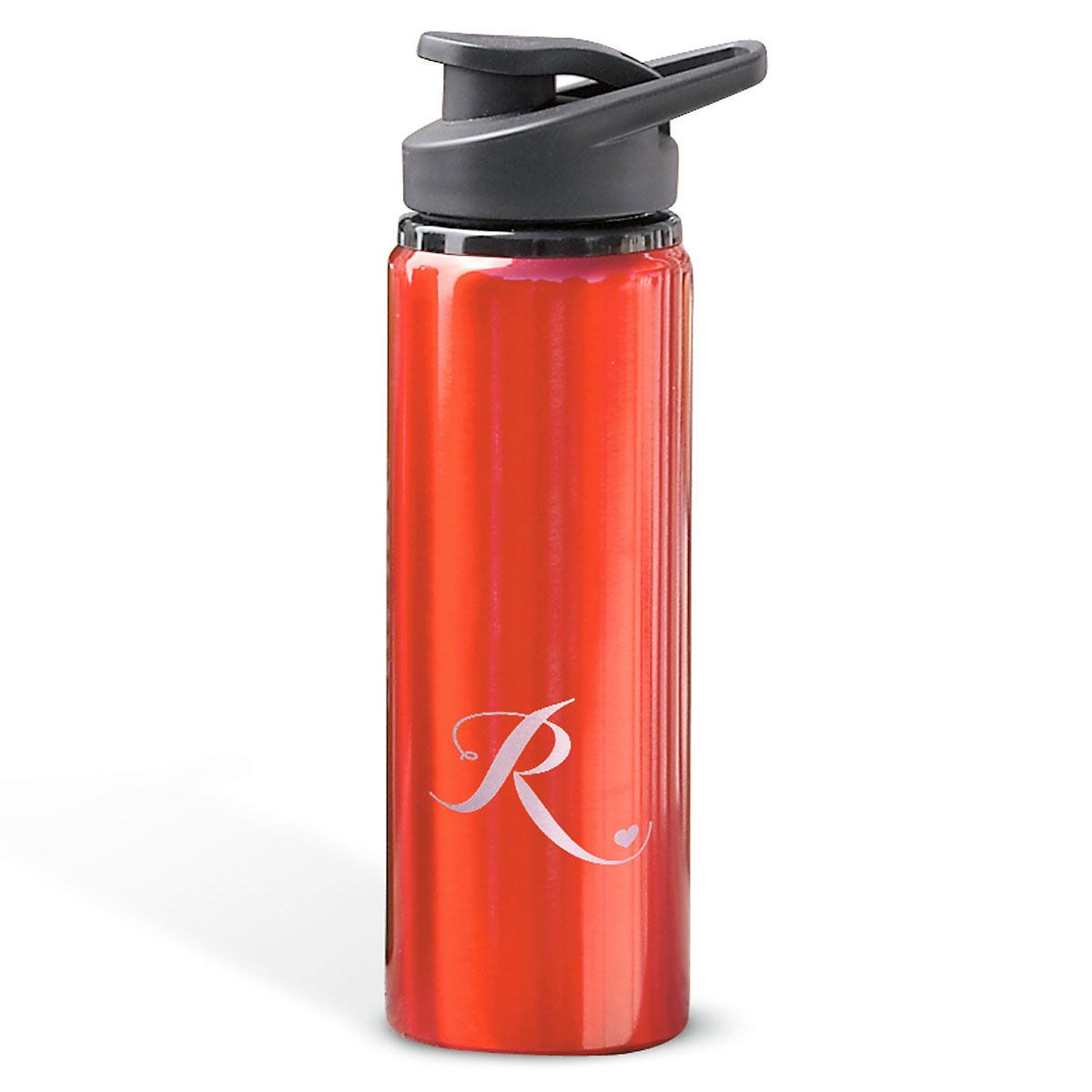 Aluminum Water Bottles with Heart-Red-816395F