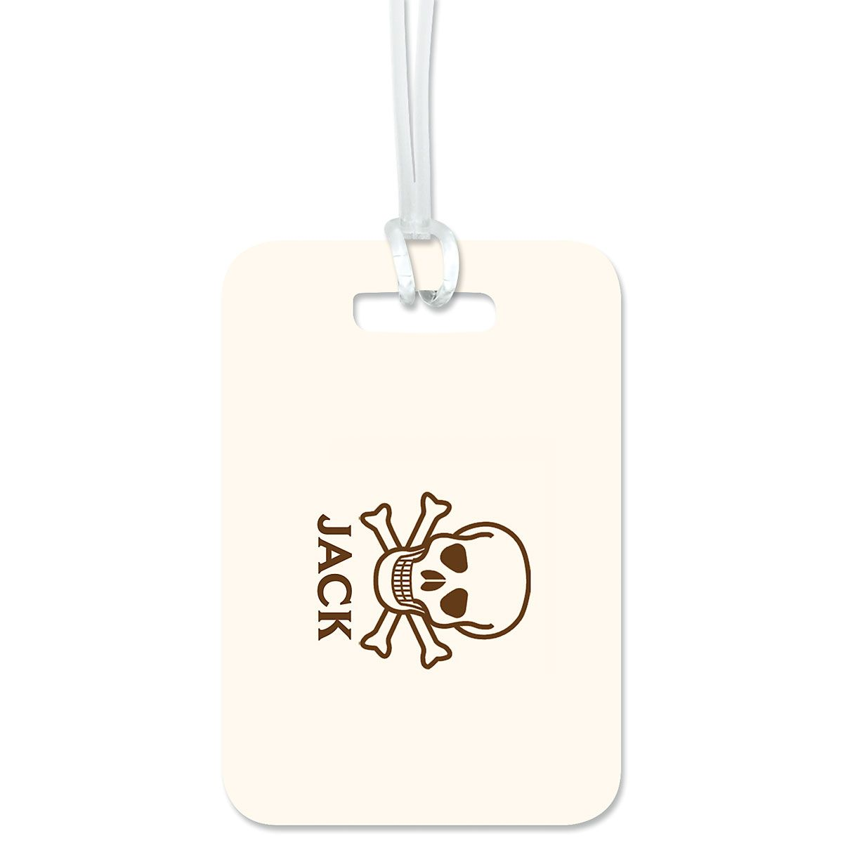 Skull & Crossbones Personalized Luggage Tag