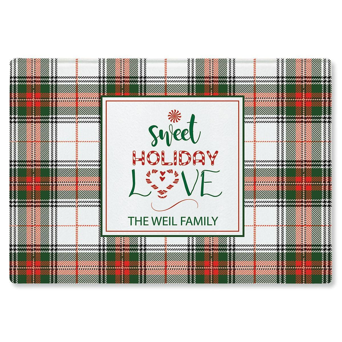 Sweet Holiday Love Personalized Cutting Board