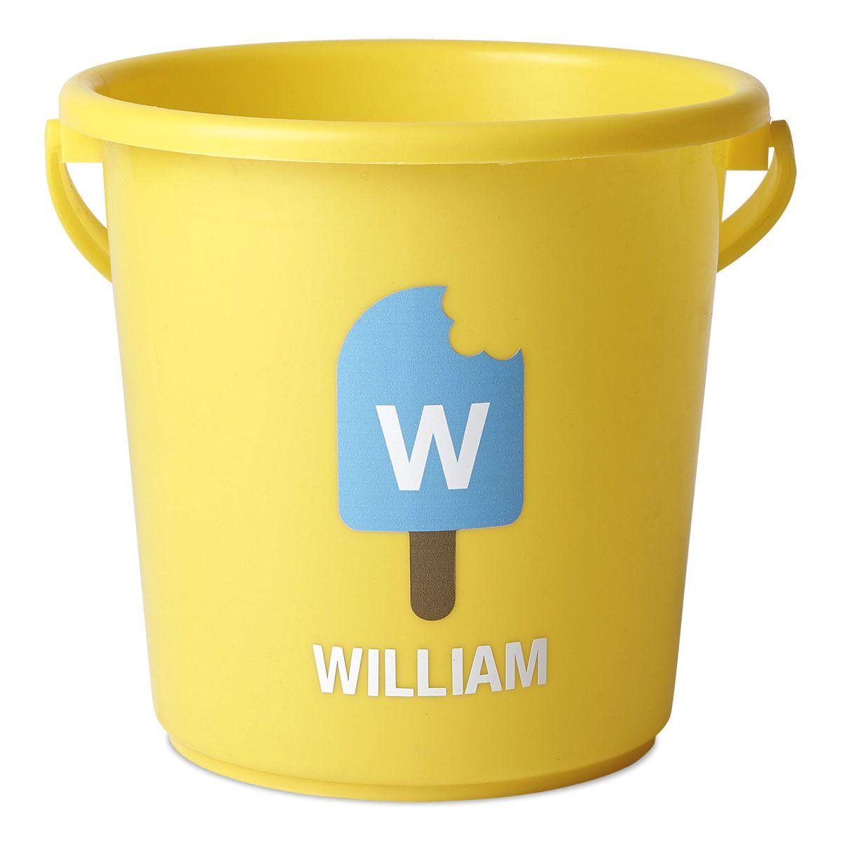 Personalized Beach Bucket-Yellow-816451E