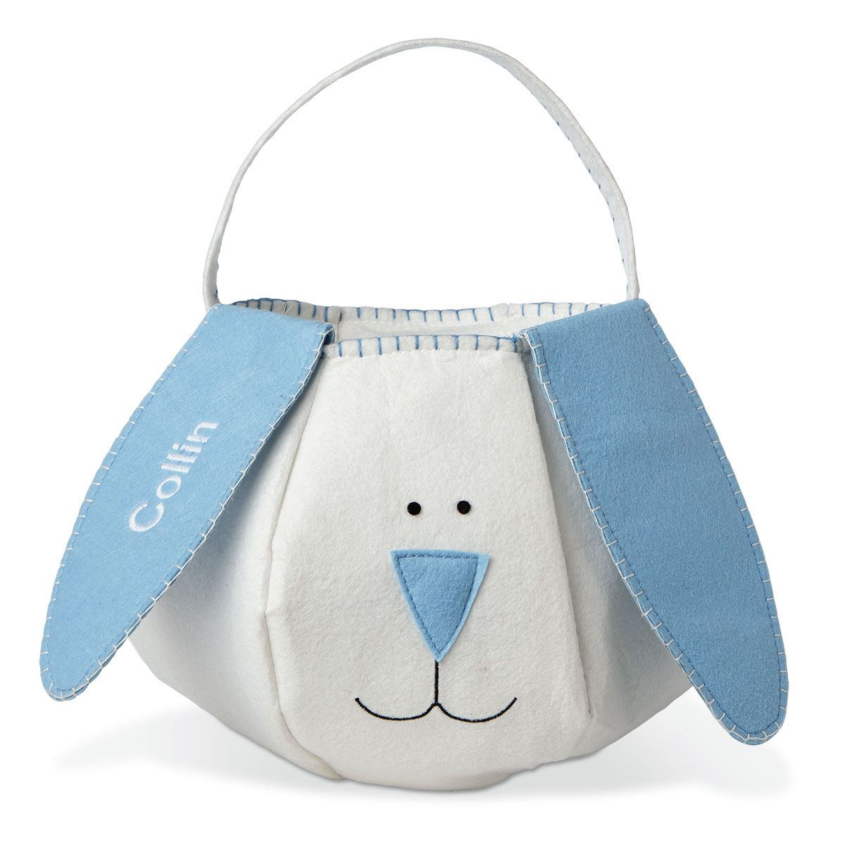 Easter Bunny Personalized Basket-Blue-816468