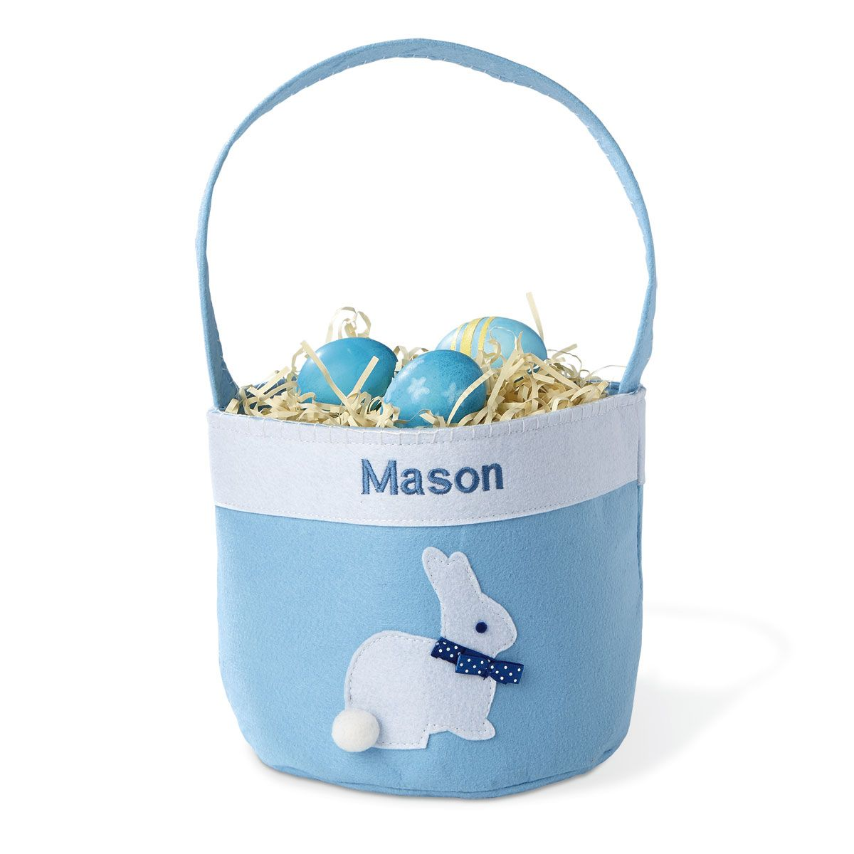 Personalized Applique Bunny Easter Baskets