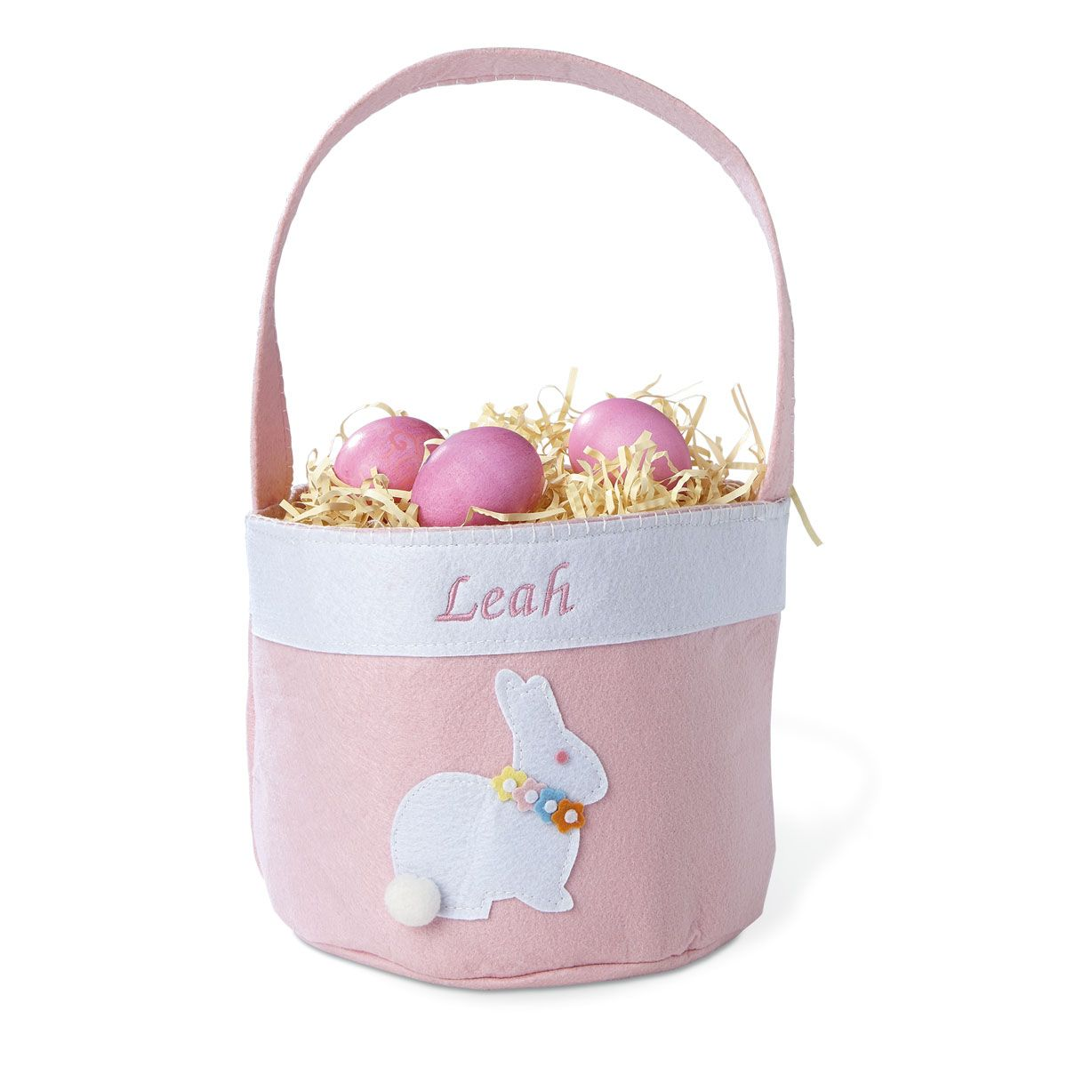 Personalized Bunny Basket-Pink-816471
