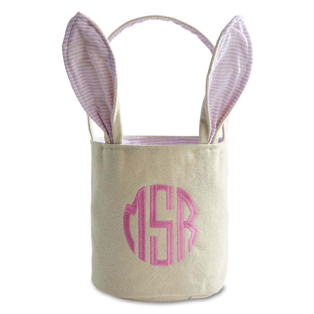 Personalized Pink Easter Baskets