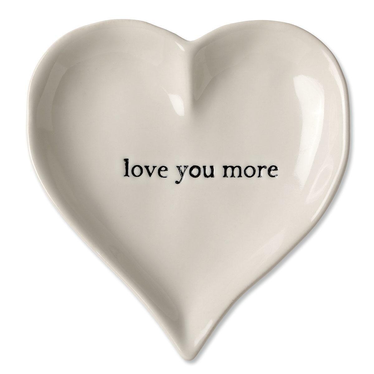 I Love You More Heart Trinket Tray