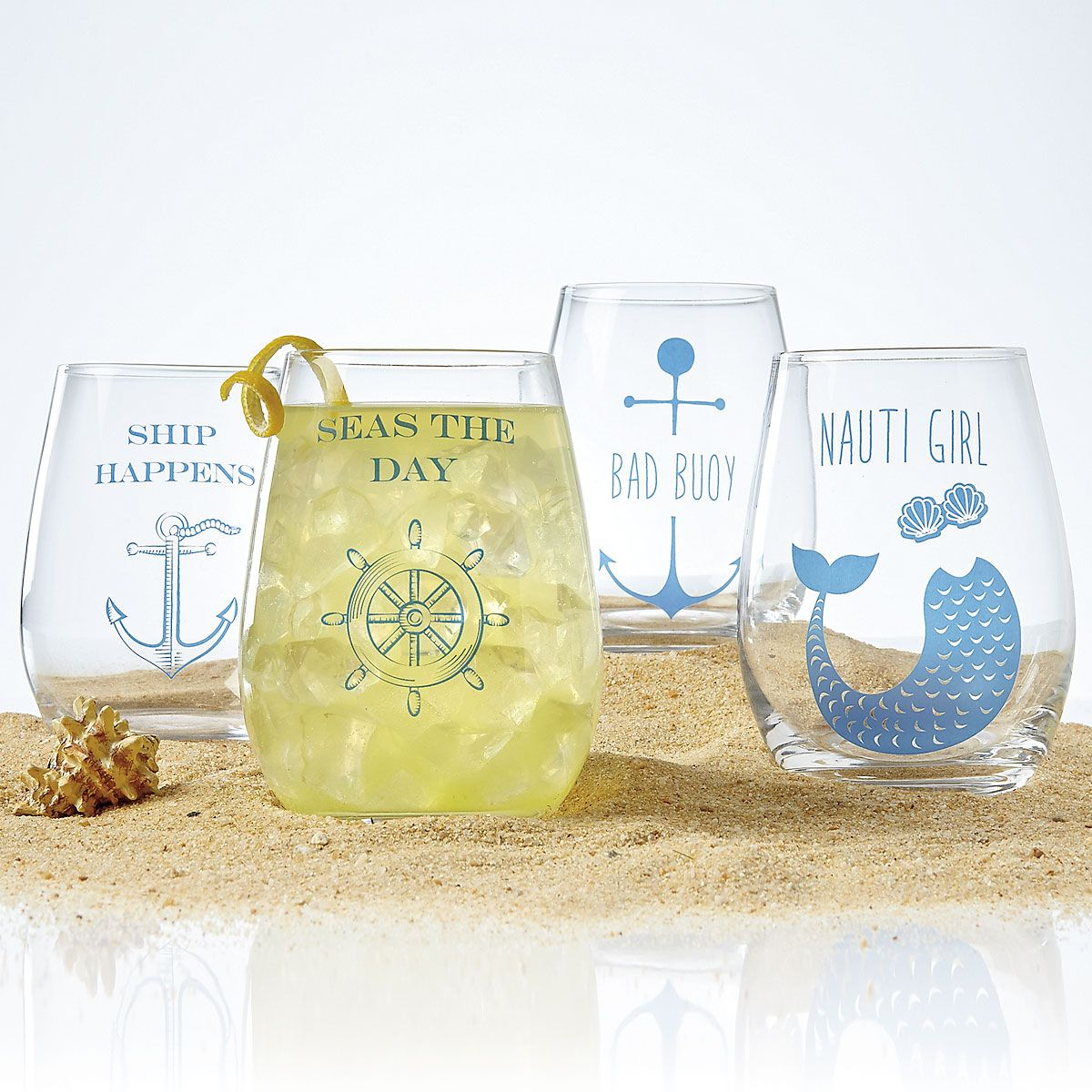 Stemless Wine Glasses by Two's Company