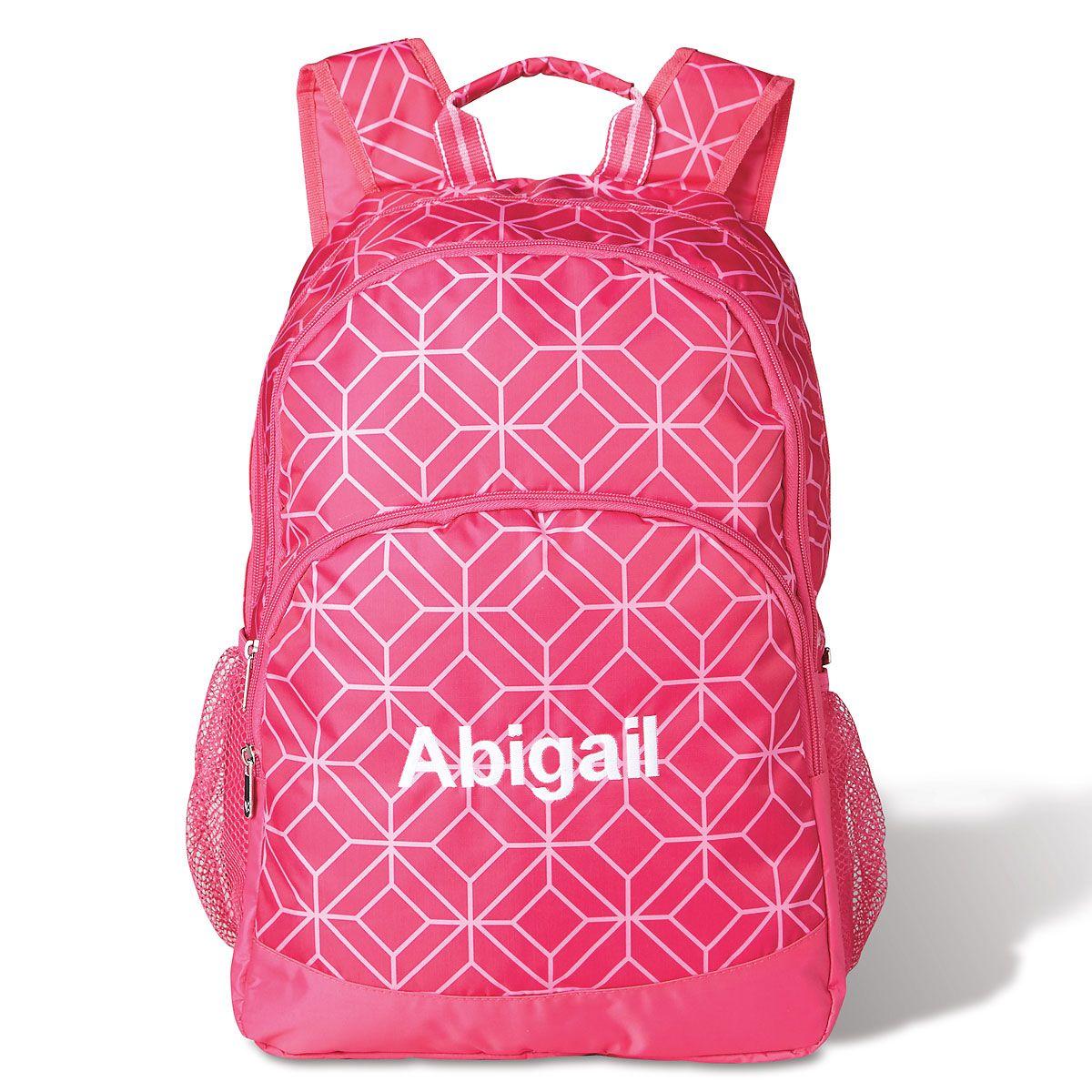 Pink Geo Backpack