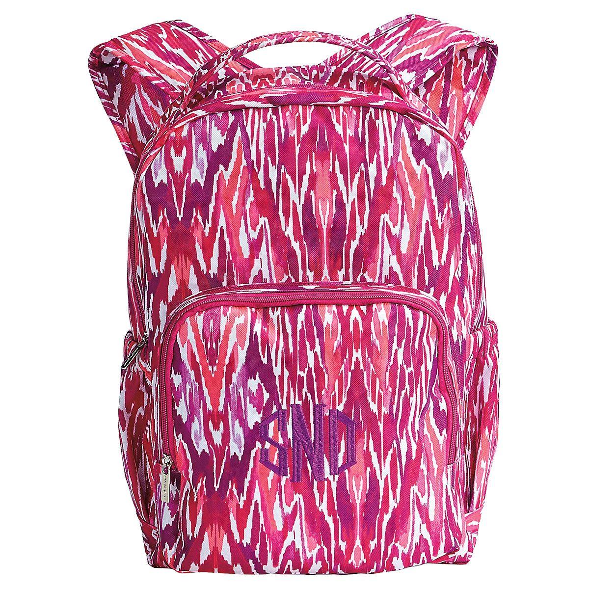 Fuschia Tribal Backpack - Monogram