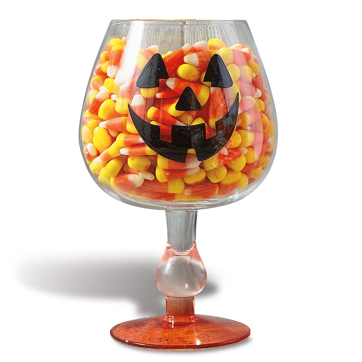 Pumpkin Face Footed Candy Bowl