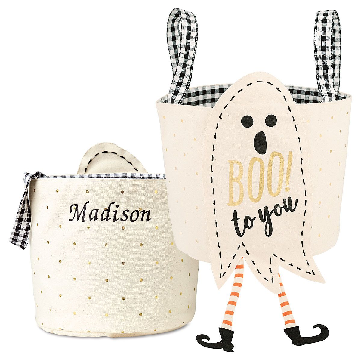 Boo to You Personalized Halloween Treat Bag