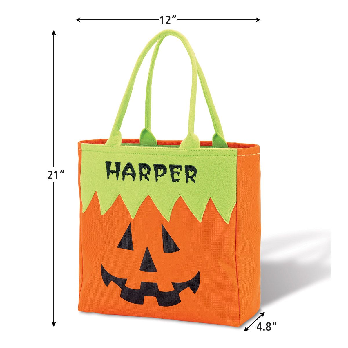 Pumpkin Personalized Halloween Character Tote