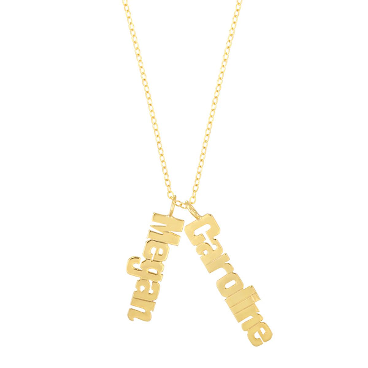 Personalized Gold Pendant Personalized gold vertical name plate lillian vernon personalized gold vermeil vertical name plate necklace audiocablefo