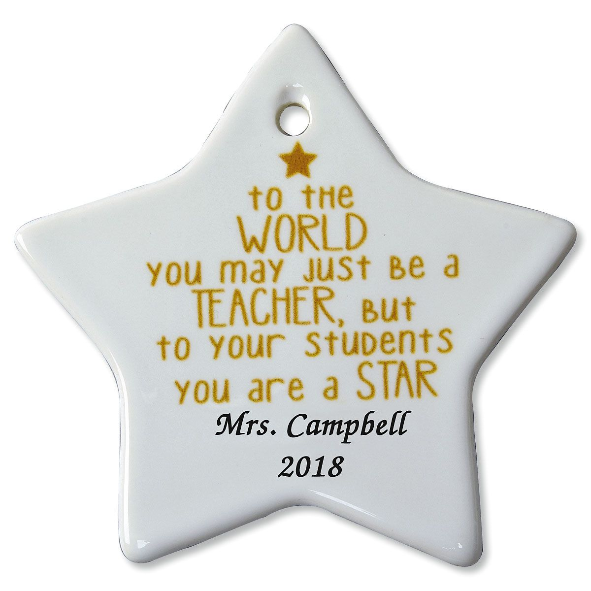You May Be Just a Teacher Christmas Personalized Ornaments