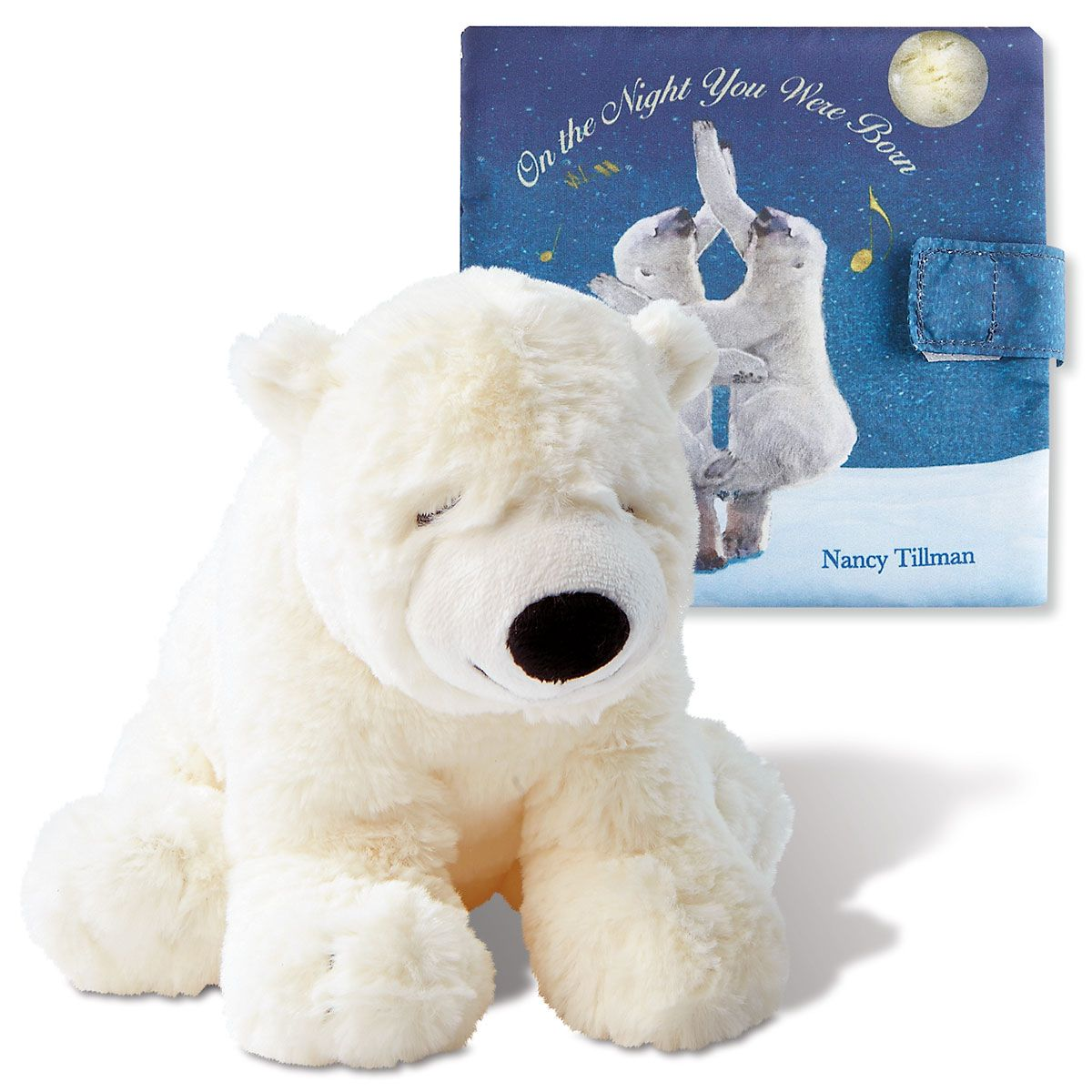 On The Night You Were Born Personalized Book Plush Polar Bear