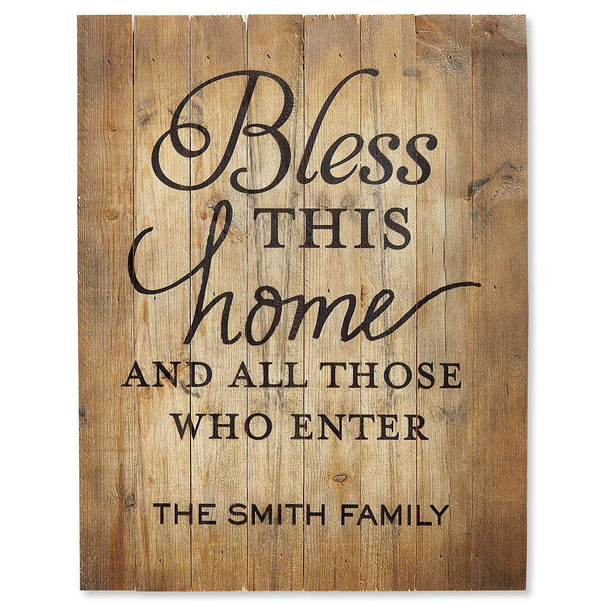 Personalized Bless This House Plaque
