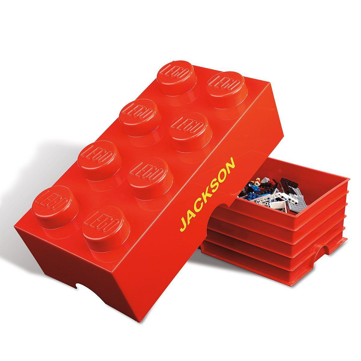 Personalized Lego® Storage Brick