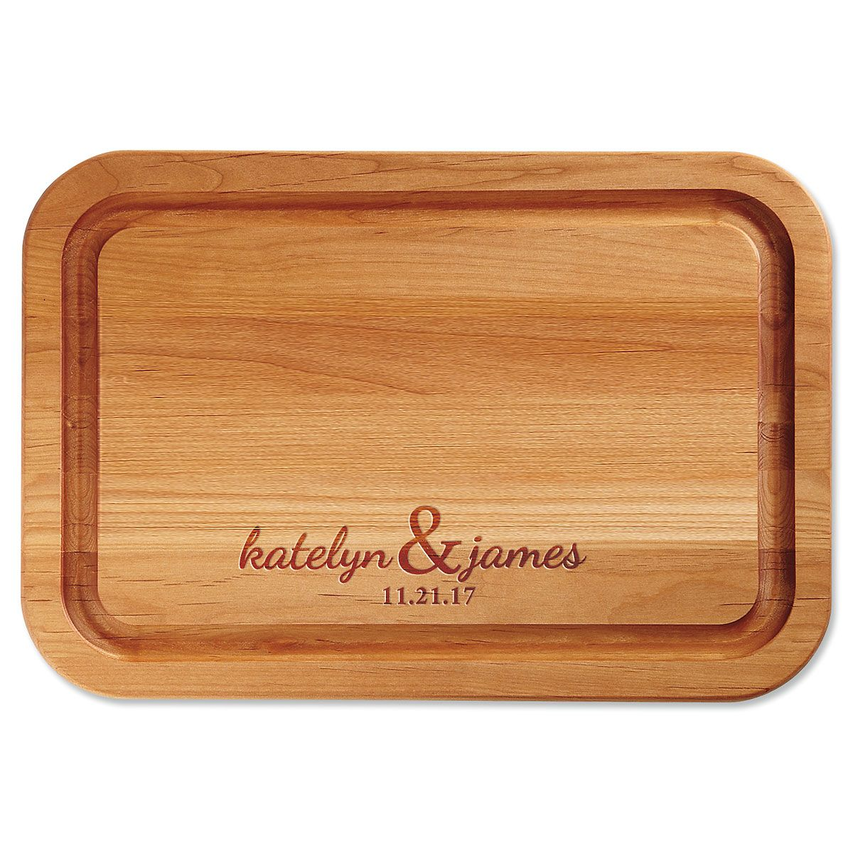 Couples Personalized Wood Cutting Board