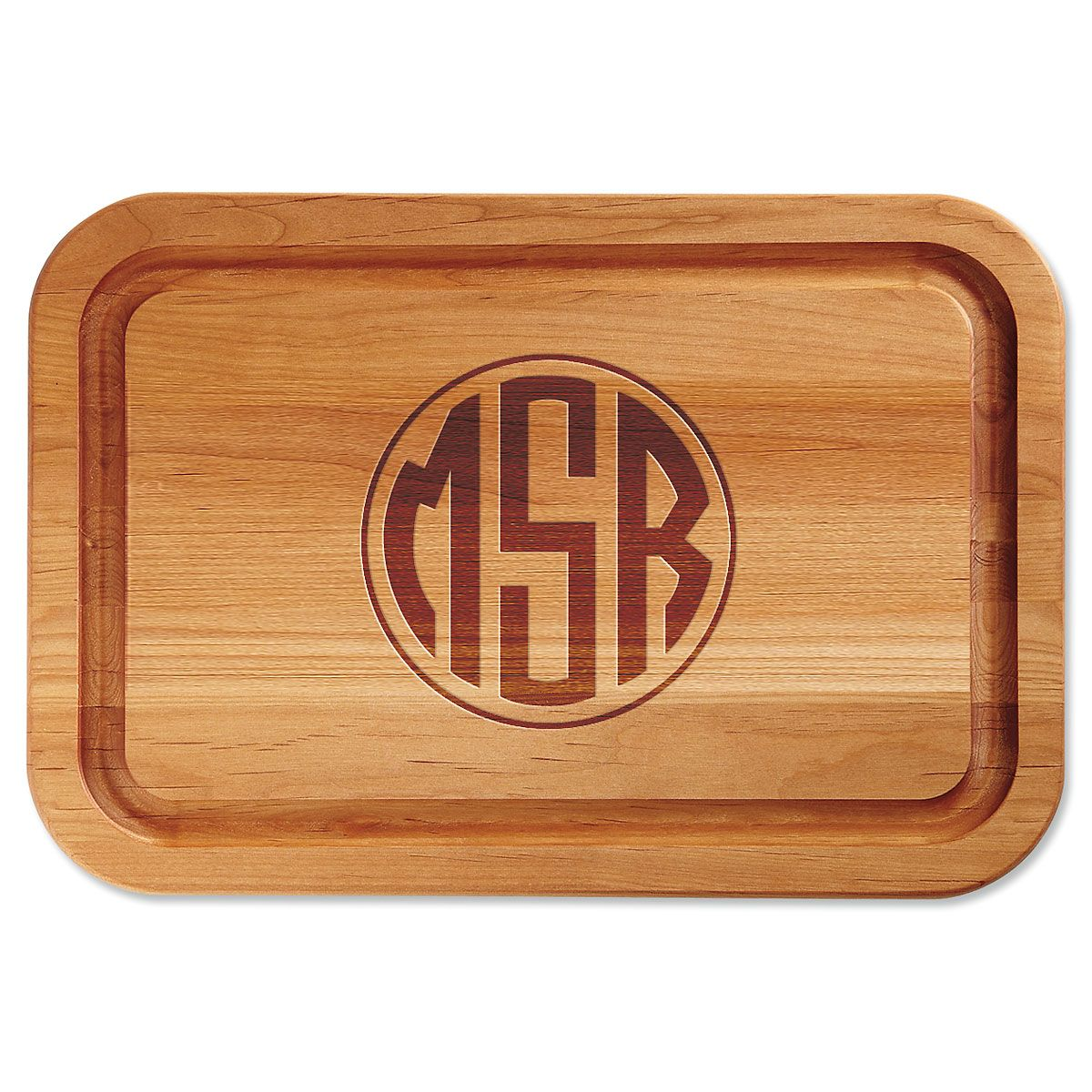Monogram Personalized Wood Cutting Board