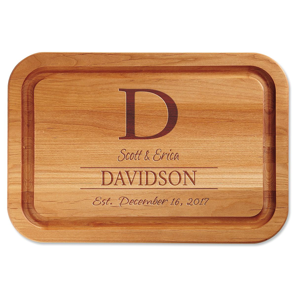 Initial Personalized Wood Cutting Board
