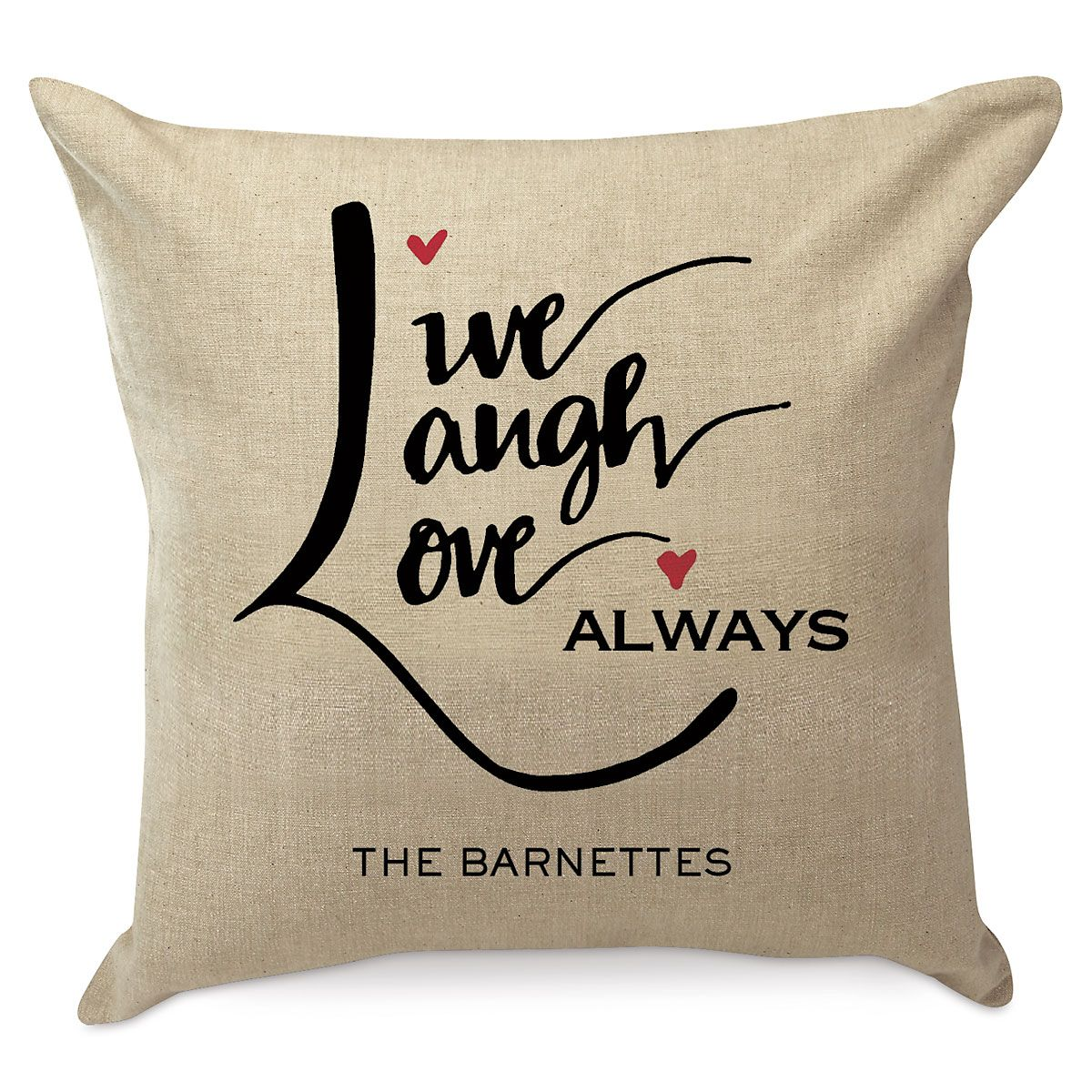 Live, Love, Laugh Personalized Pillow