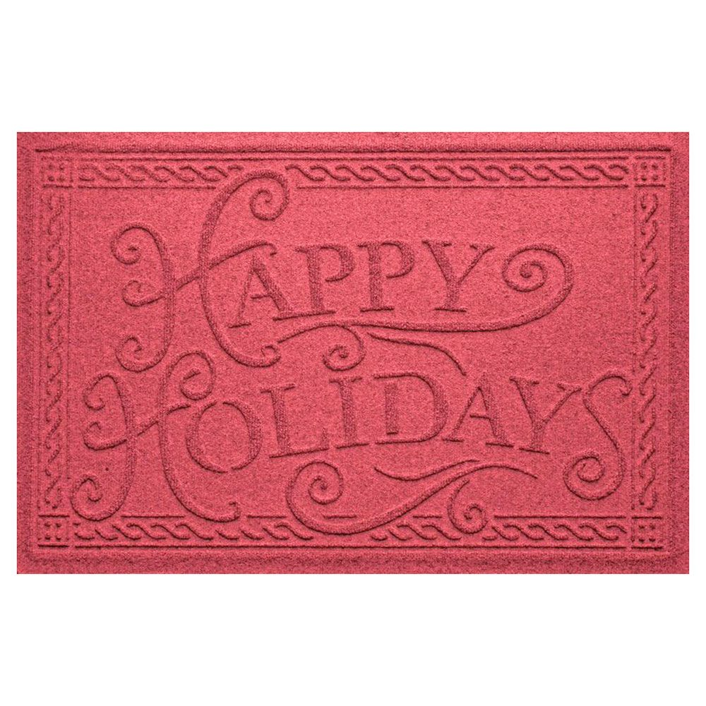 Happy Holidays Christmas Personalized Doormat
