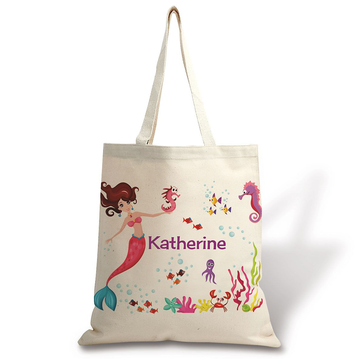 Personalized Mermaid Canvas Tote