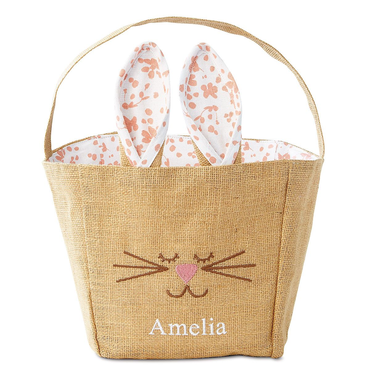 Jute Bunny Personalized Baskets