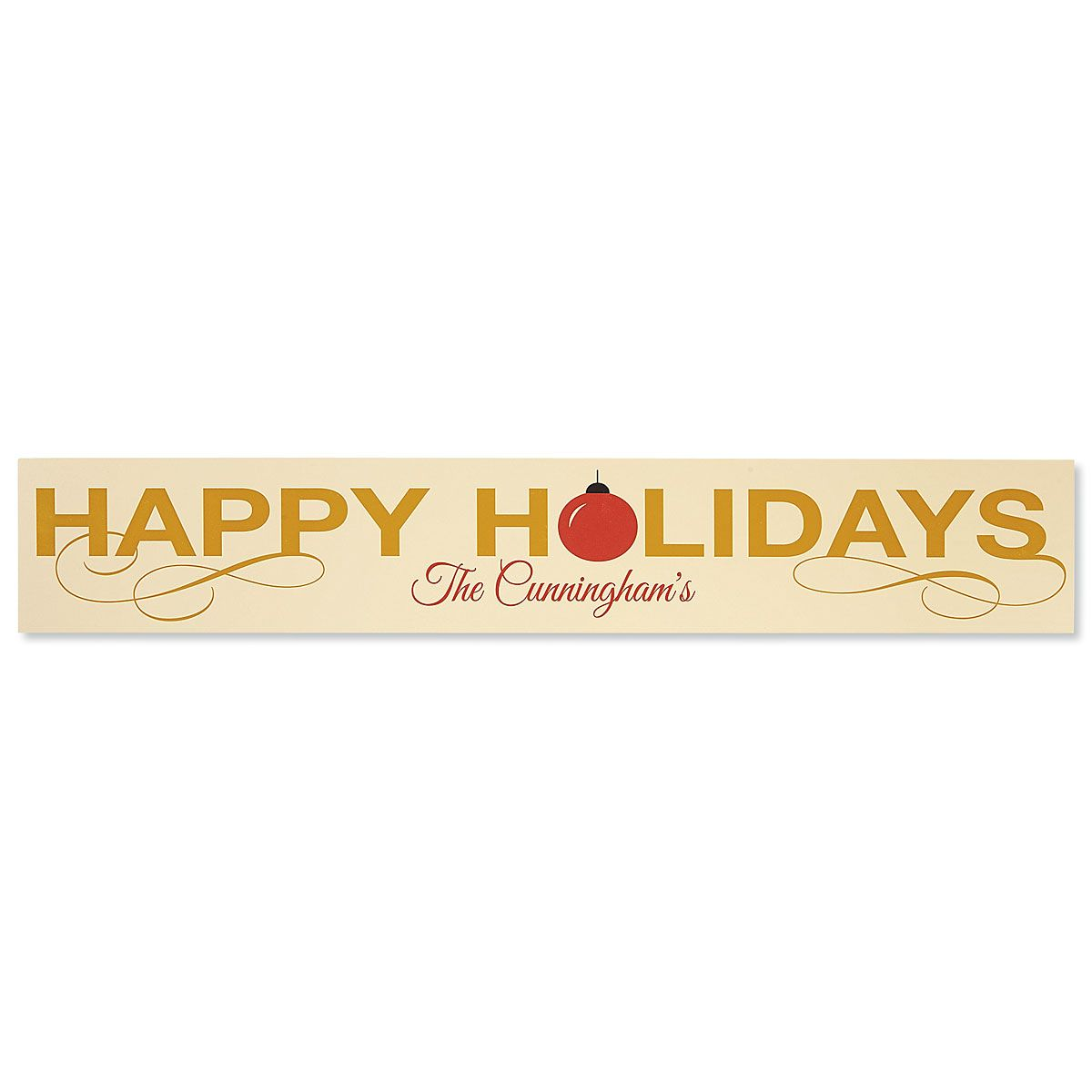 Happy Holidays Personalized Plaque