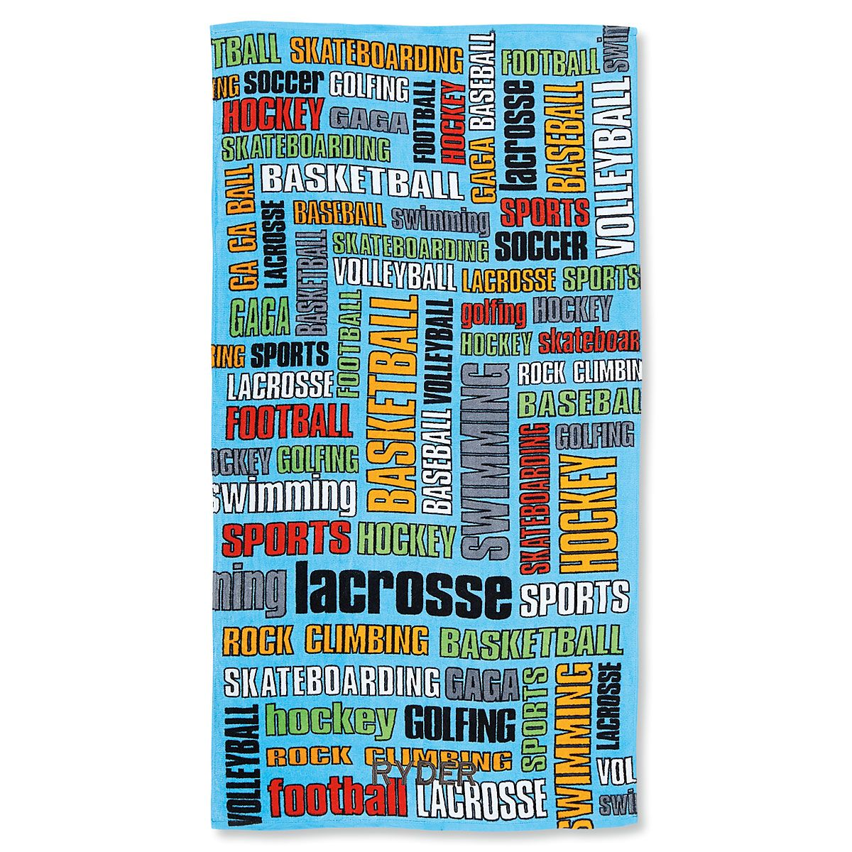 Sports Graffti Personalized Towel