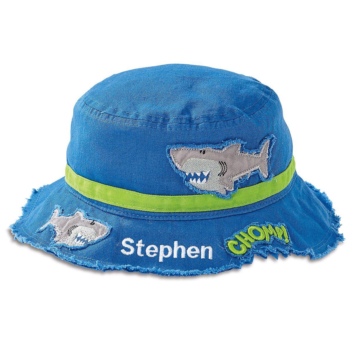 Personalized Shark Bucket Hat by Stephen Joseph®