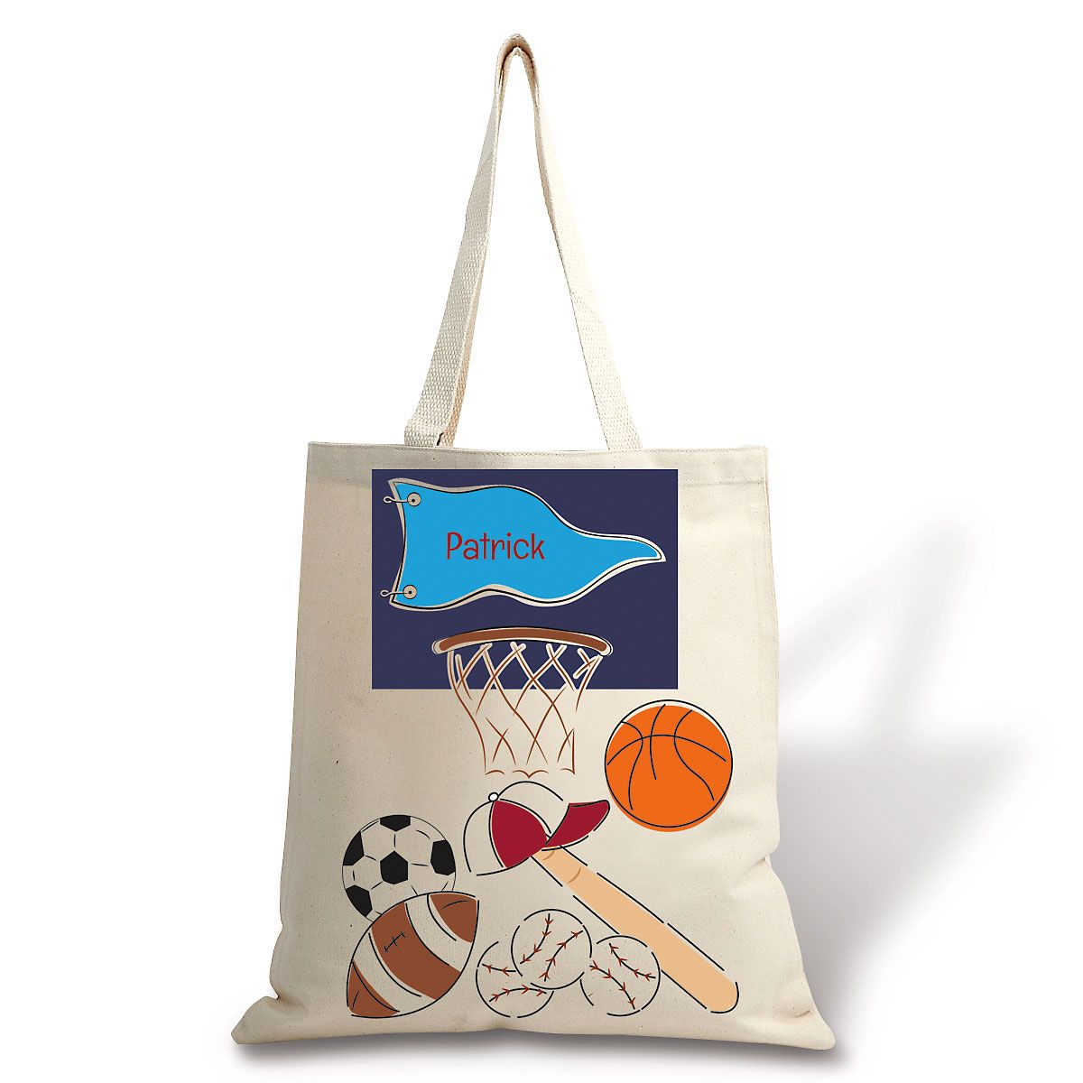 Personalized Sports Canvas Tote