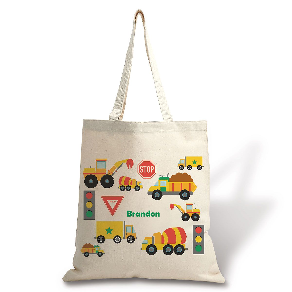 Personalized Trucks Canvas Tote