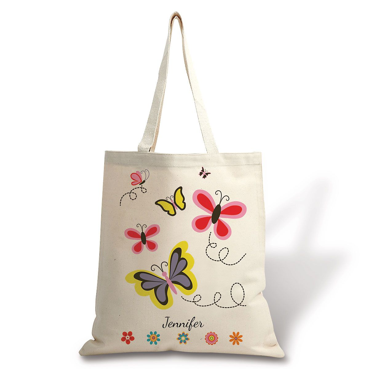 Personalized Butterfly Canvas Tote