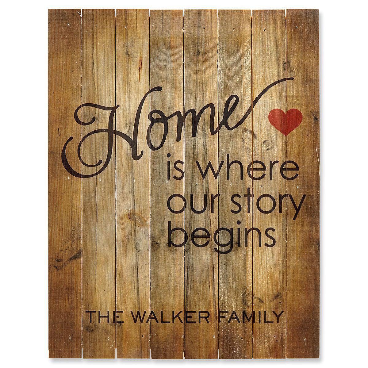 Personalized Home is Where Our Story Begins Plaque