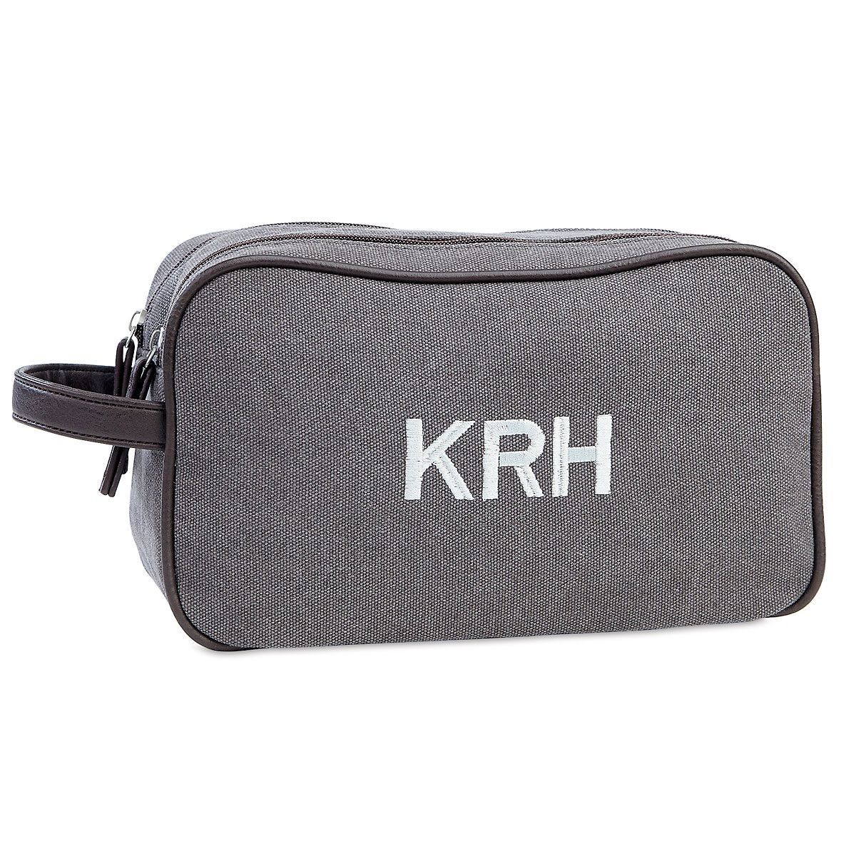 Personalized Man-Style Dark Grey Toiletry Bag