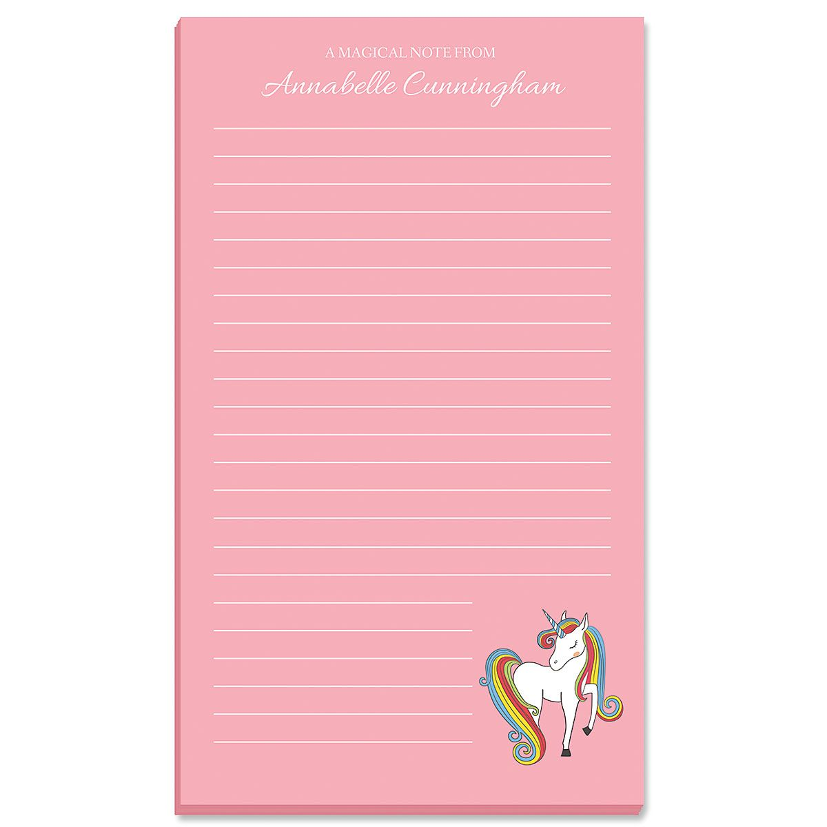 Fantasy Unicorn Note Pad