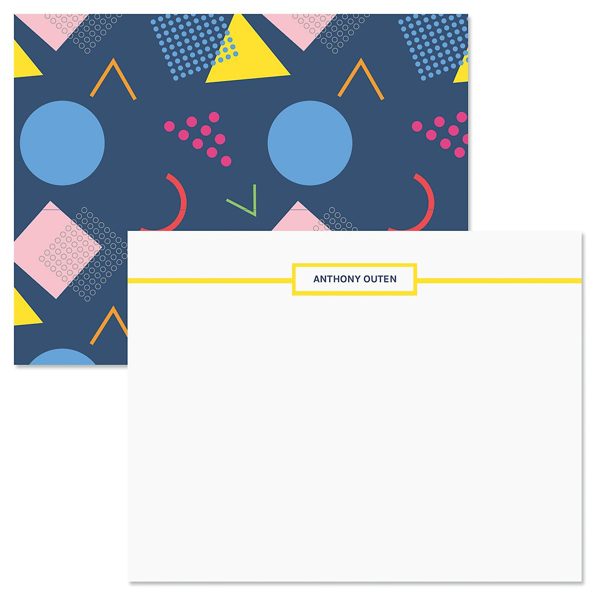 Retro Navy Correspondence Cards